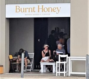 New Coffee Shop Bakery. Another good spot for whale watching.