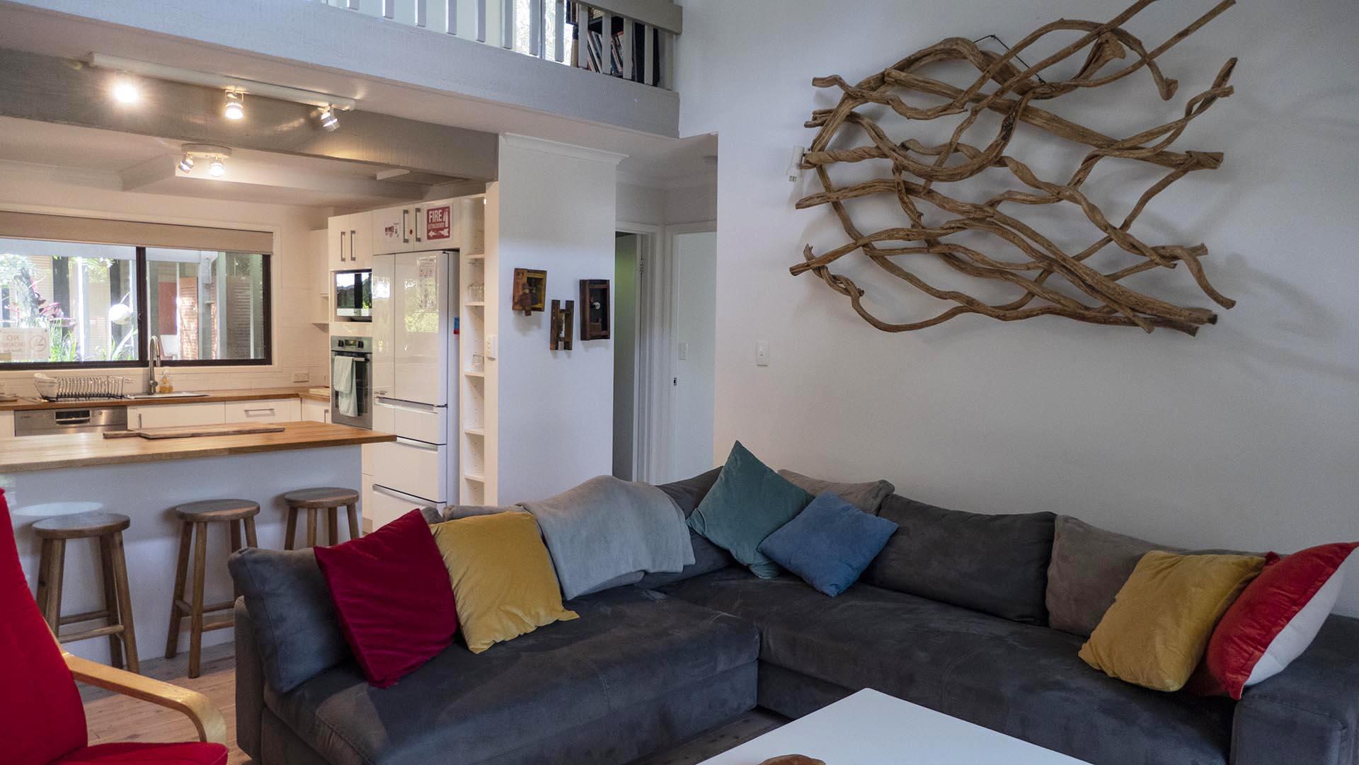 Copa Beachside Living Room adjacent to kitchen area