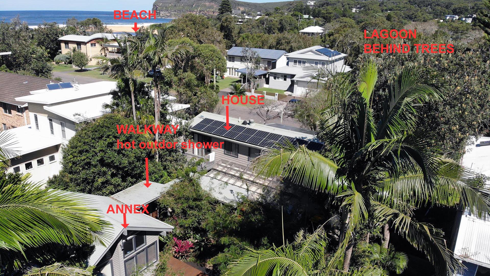 Annex - Walkway - Main House - Beach. Copa Beachside.